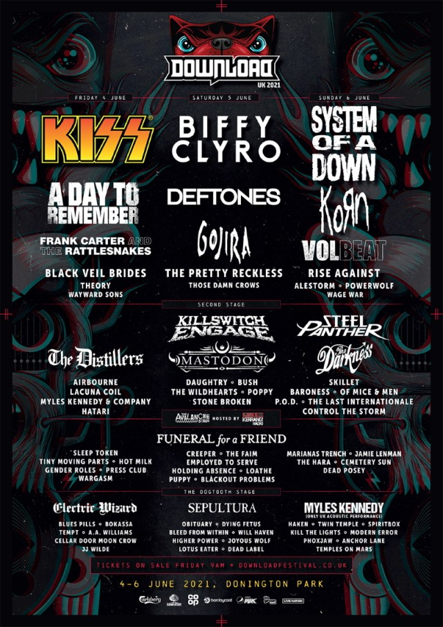 Download Festival 2021 First Lineup Poster