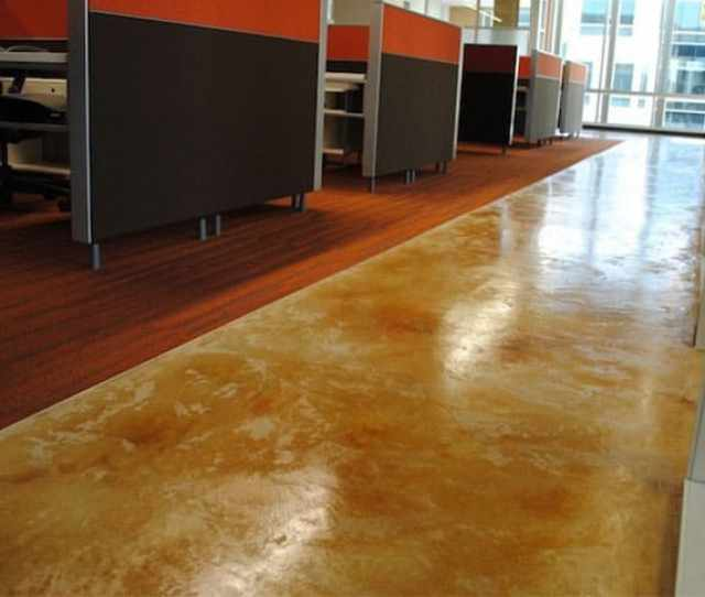 An Acid Stain For Concrete Floor Has A Very Bold Look Recognizable By Its Mottled Appearance And Highly Variegated Finish Once The Stain Reacts With Your