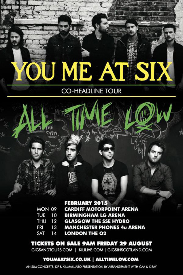 all time low you me at six announce
