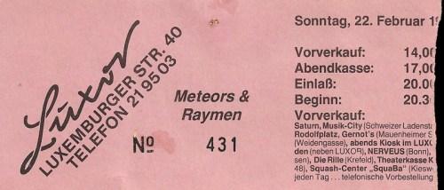 Meteors 1987