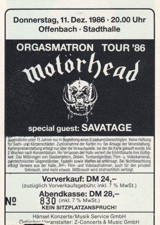 Motörhead 1986