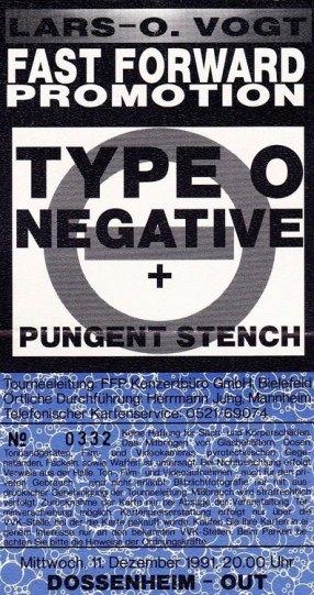 Type O Negative 1991