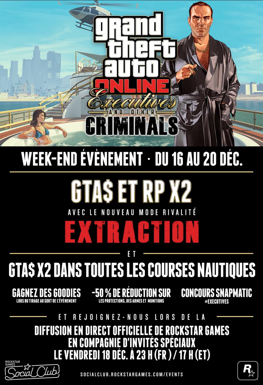 Week-End Evenement GTA Online