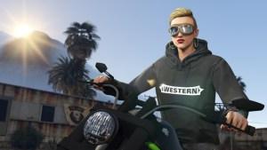GTA Online Bikers Pull Western