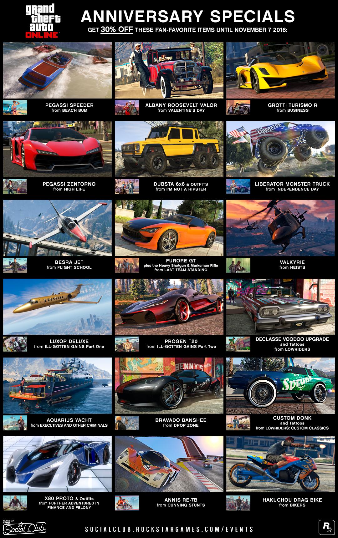 GTA Online fête ses 3 ans !
