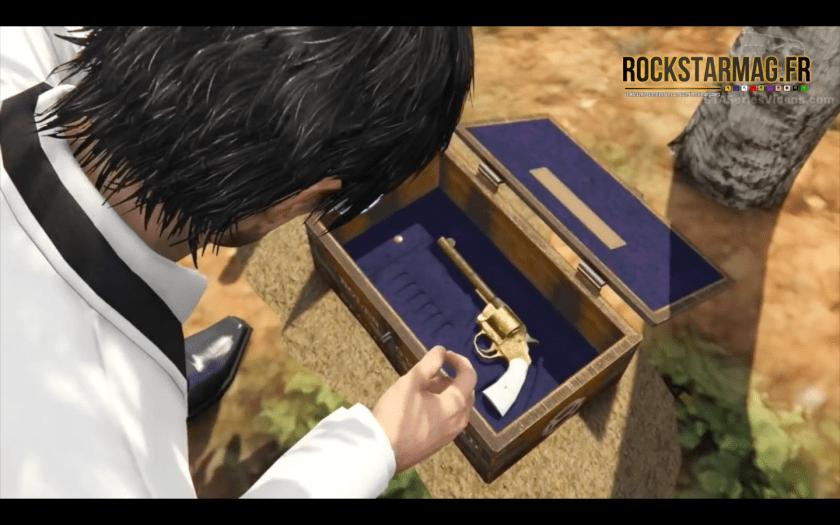Revolver Double Action - Mystère Red Dead Redemption II dans GTA Online - Etape 06 - Trésor