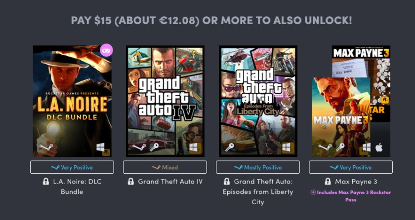 Humble Bundle Rockstar Games Pack 03