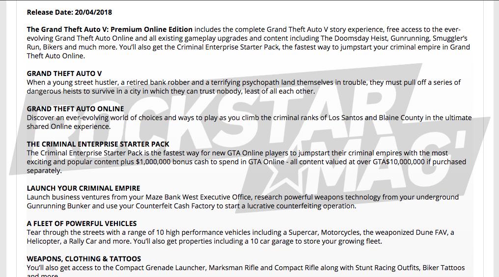GTA V Premium Online Edition Game