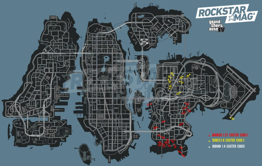 GTA IV - Map Easter Eggs Grand Theft Auto IV - Rockstar Mag