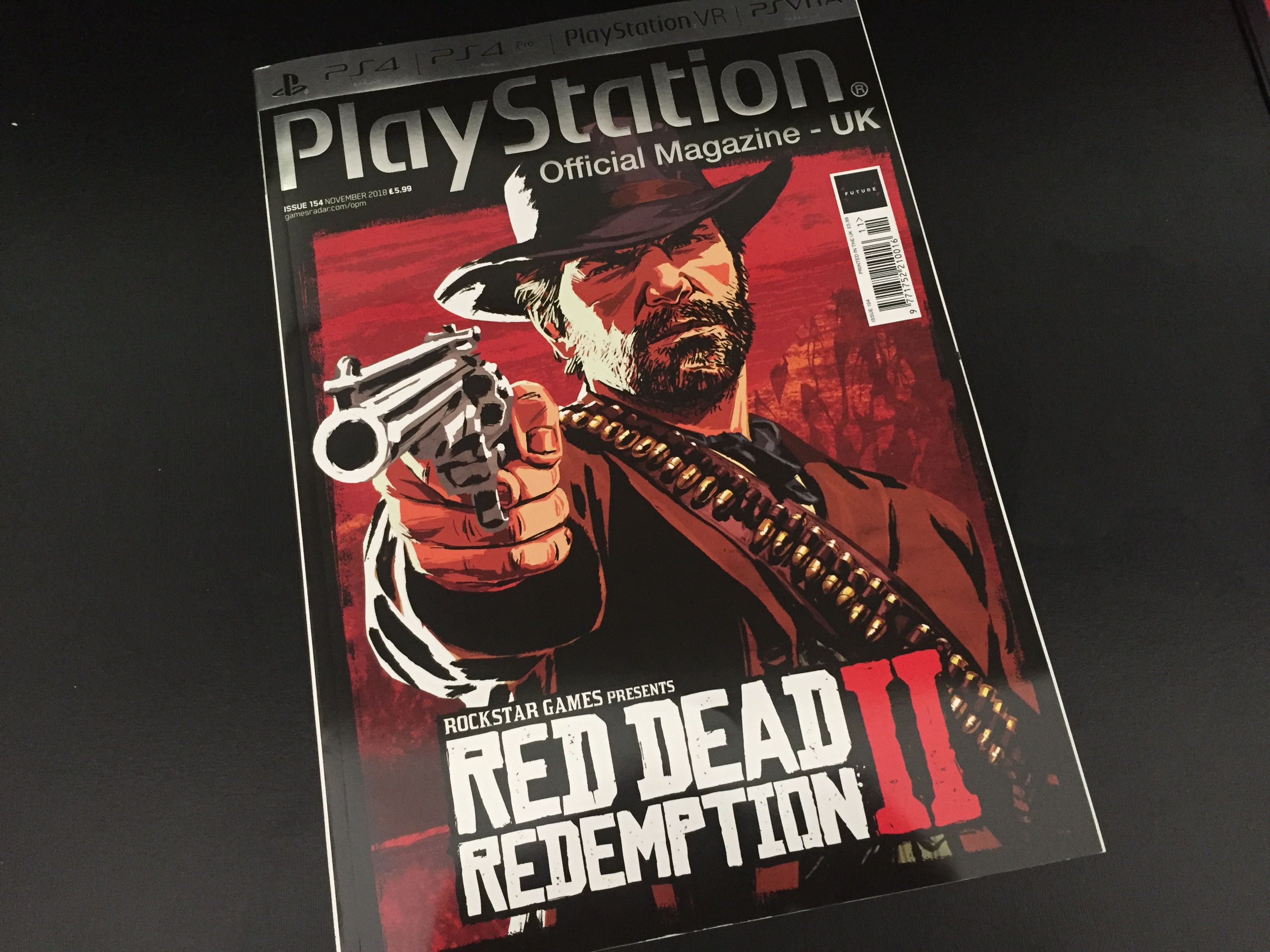 PlayStation Magazine UK Red Dead Redemption II - Couverture