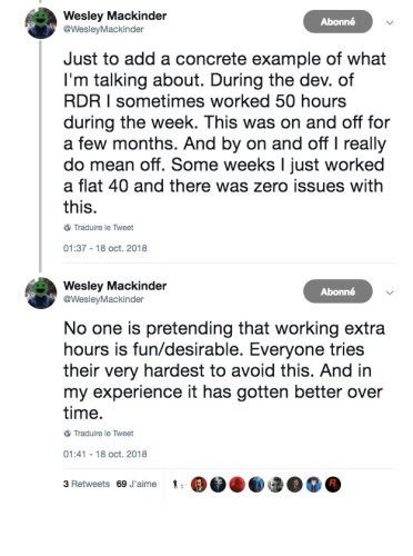 Tweet Wesley Mackinder Rockstar Games Employé