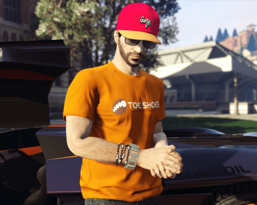 T-Shirt Toe Shoe disponible gratuitement sur GTA Online