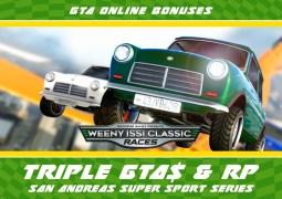Les courses Hotring, RC et Issi classique à l'honneur sur GTA Online cette semaine !