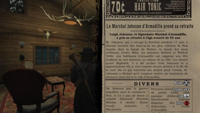 Extrait de journal - Retraite Marshal Johson