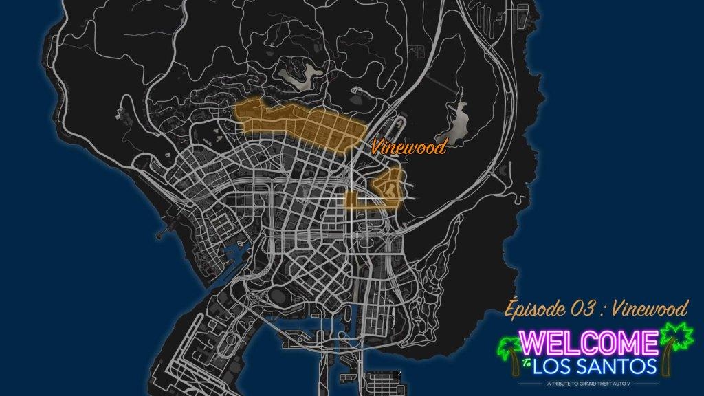 Map Vinewood Boulevard GTA V
