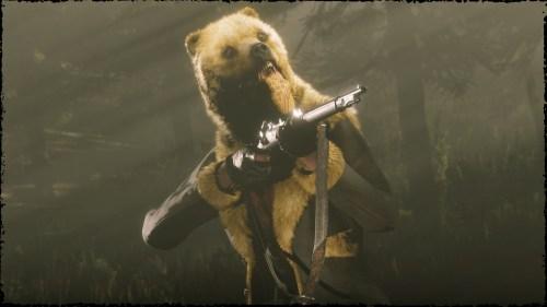 manteau ours doré Red Dead Online