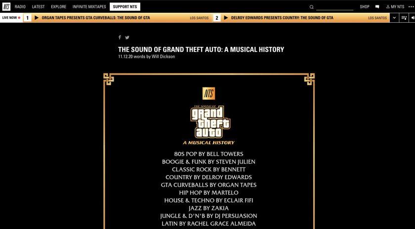 GTA Online - NTS The Sound of GTA