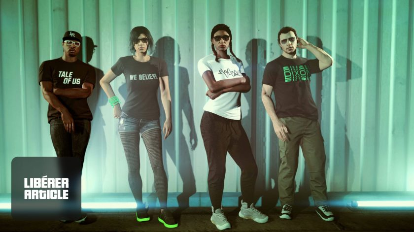 Des t-shirt de DJ dans GTA Online