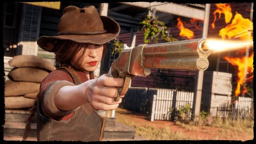 pistolet Volcanic Red Dead Online