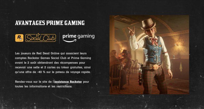 Prime Gaming Red Dead Online 6 Juillet