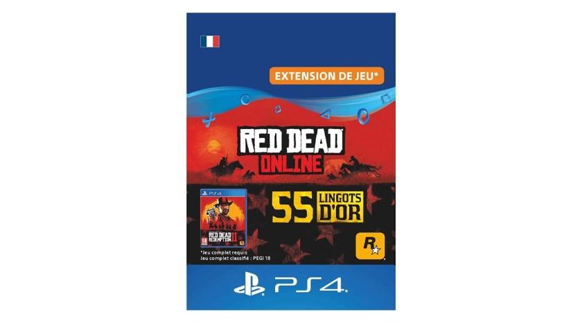 Red Dead Online Pack 55 Lingots d'or