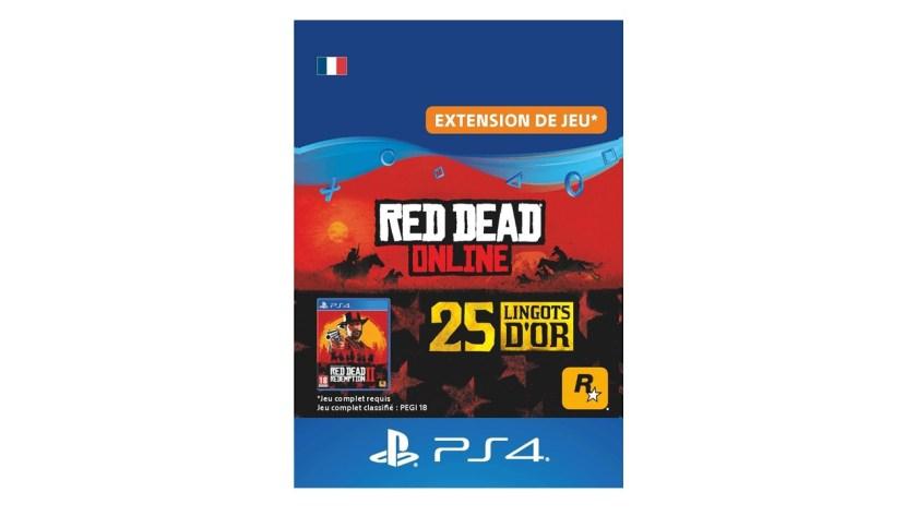Red Dead Online Pack 25 Lingots d'or