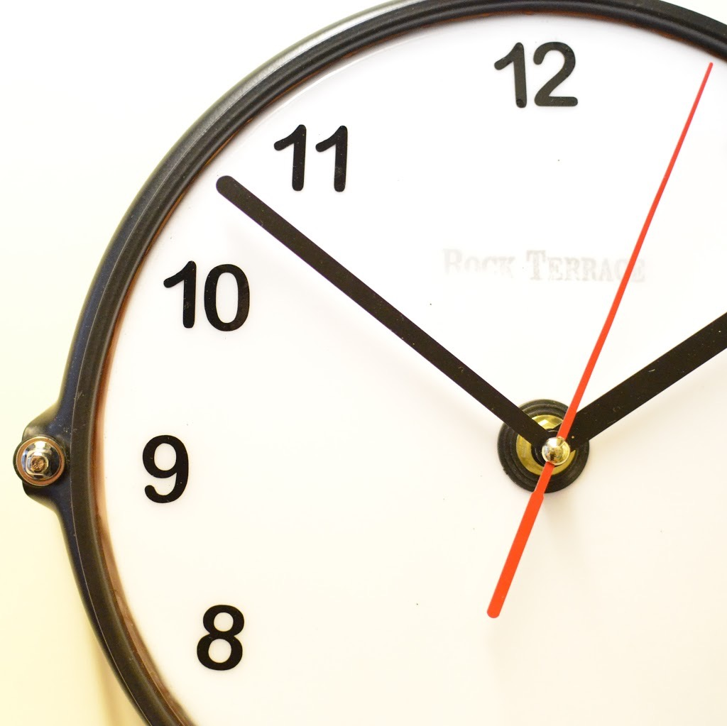 Mini Orange Snare Clock