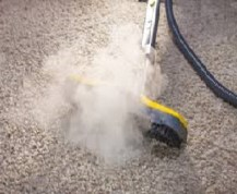 steaming carpet