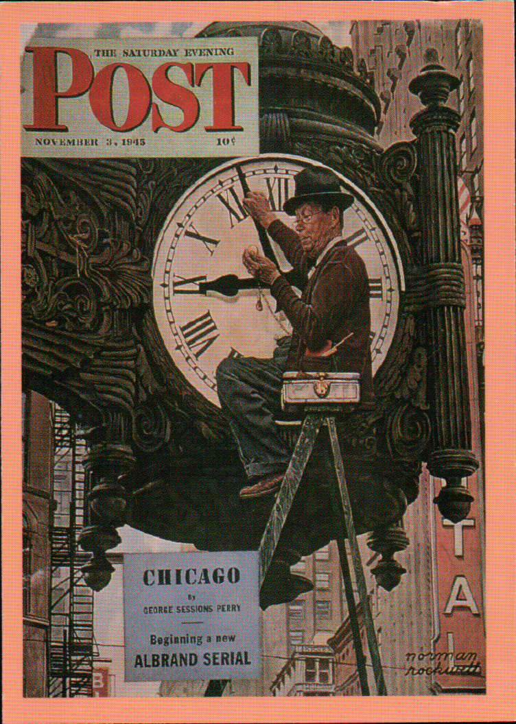 Marshall Fields Clock Collector Plate By Norman Rockwell