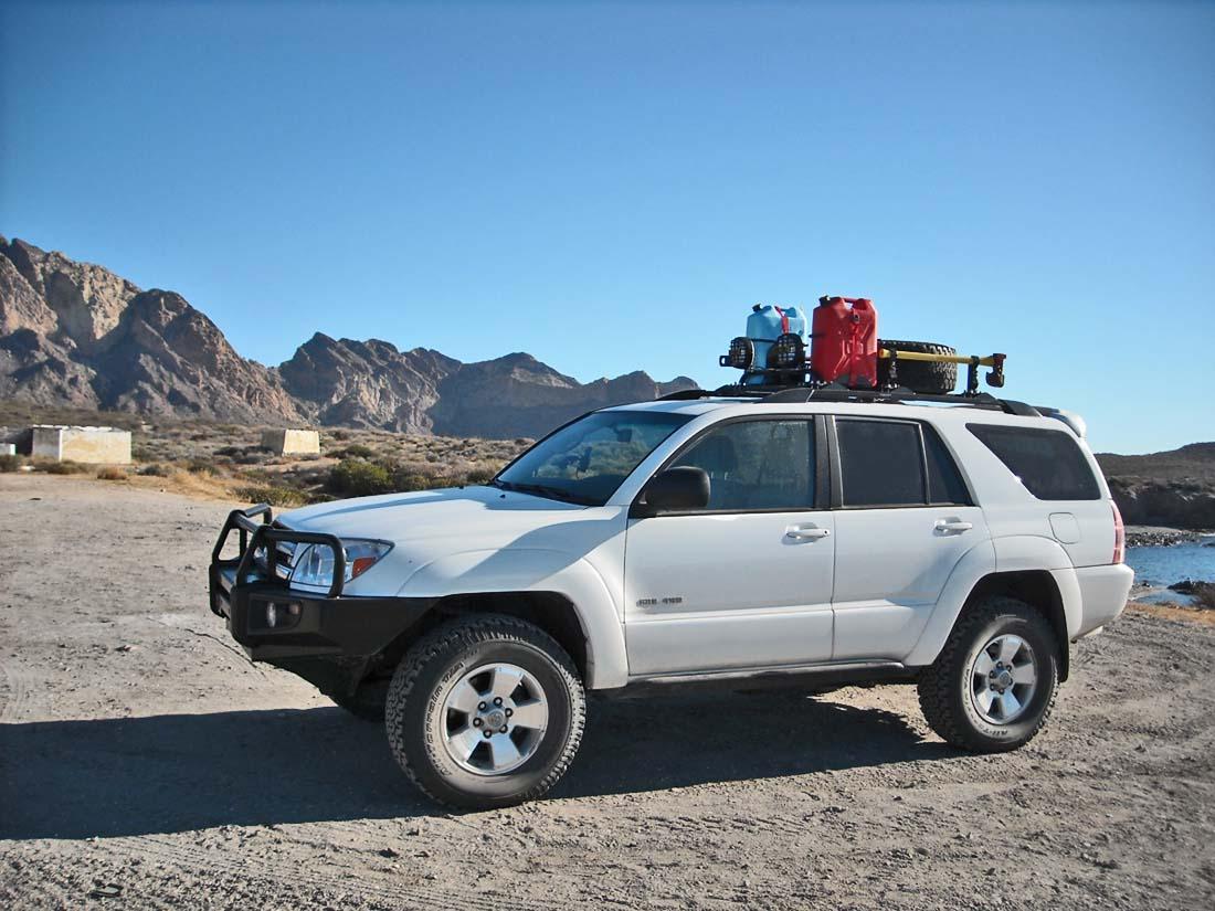 4runner roof rack tire mount