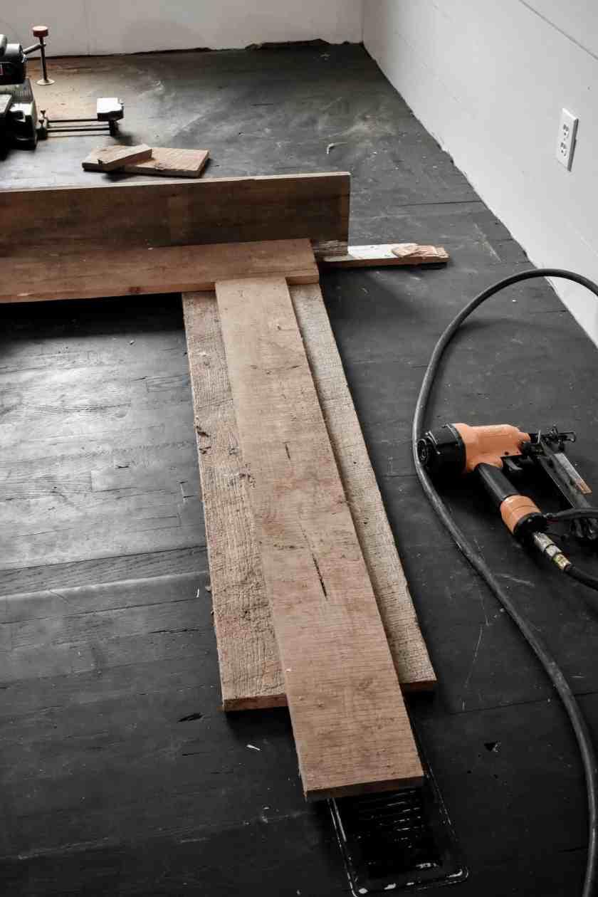 DIY Rustic Mantel