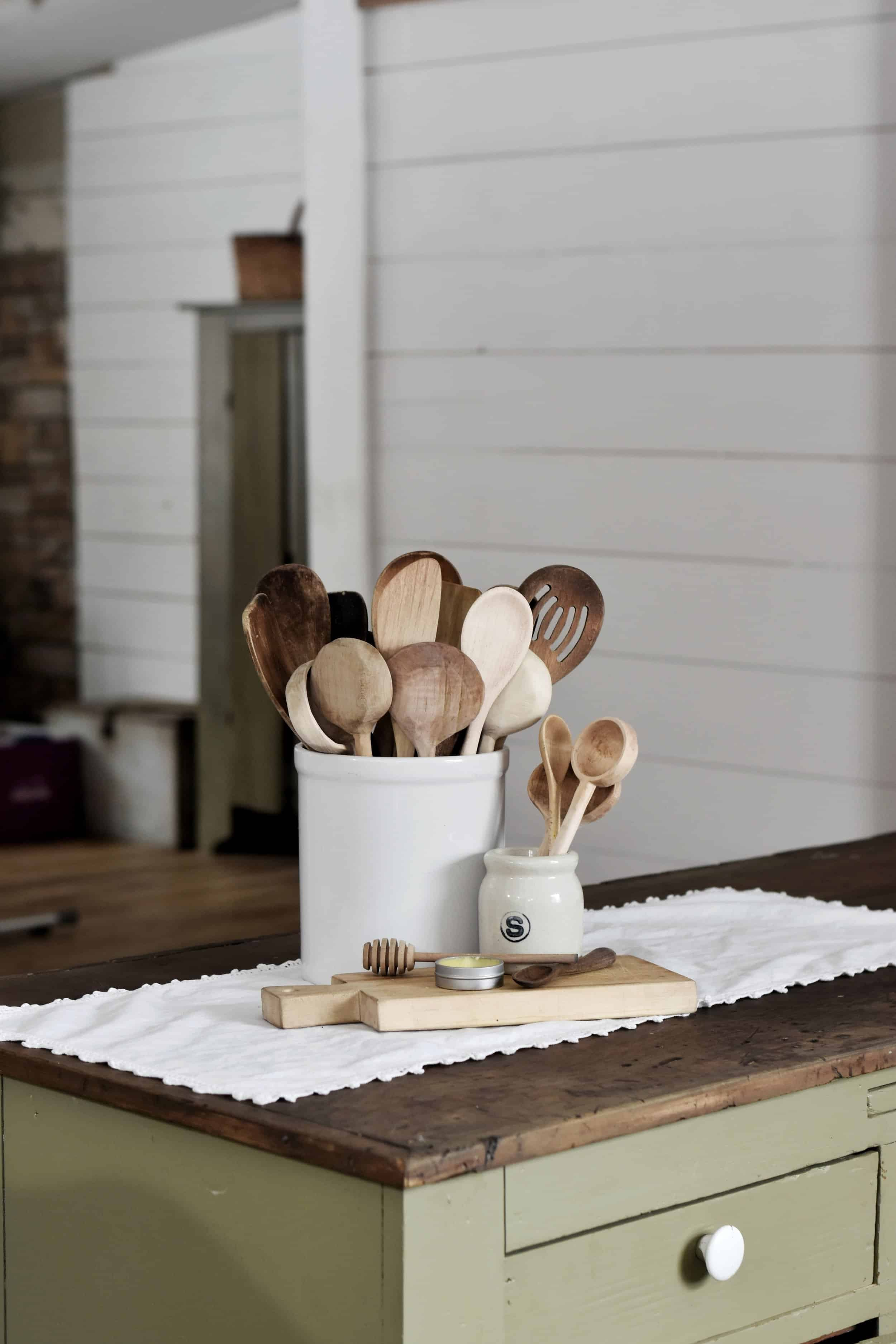 how to properly care for wooden spoons and utensils