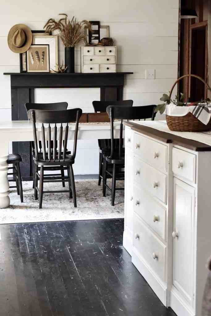 Repurposed Antique Vintage Farmhouse Buffet into a Kitchen Island