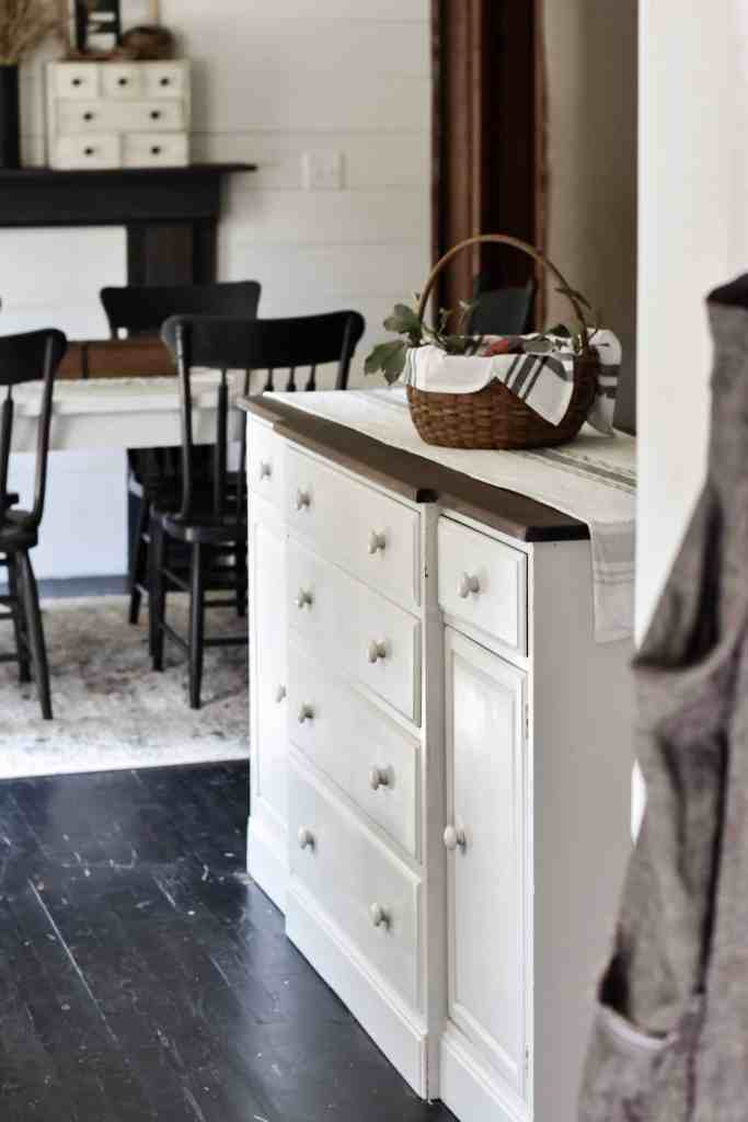 Antique Vintage Farmhouse Buffet Makeover