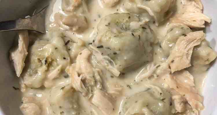 From scratch healthy old fashioned Chicken and Dumpling recipe
