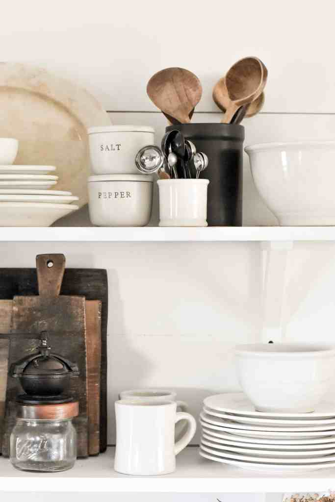 Simple Tips to Styling Open Shelves in the Kitchen