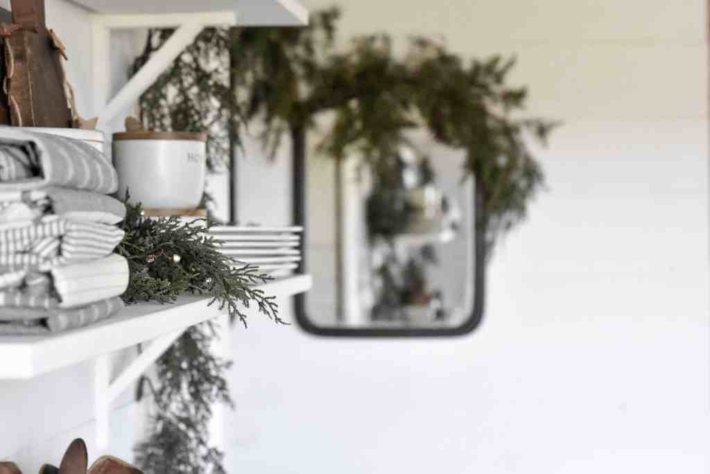 Farmhouse Style Christmas Shelves (2)