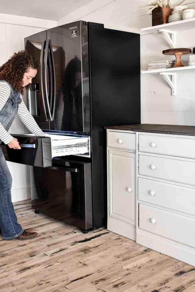Kitchen Update - Our New Fridge Samsung Refrigerator in Kitchen