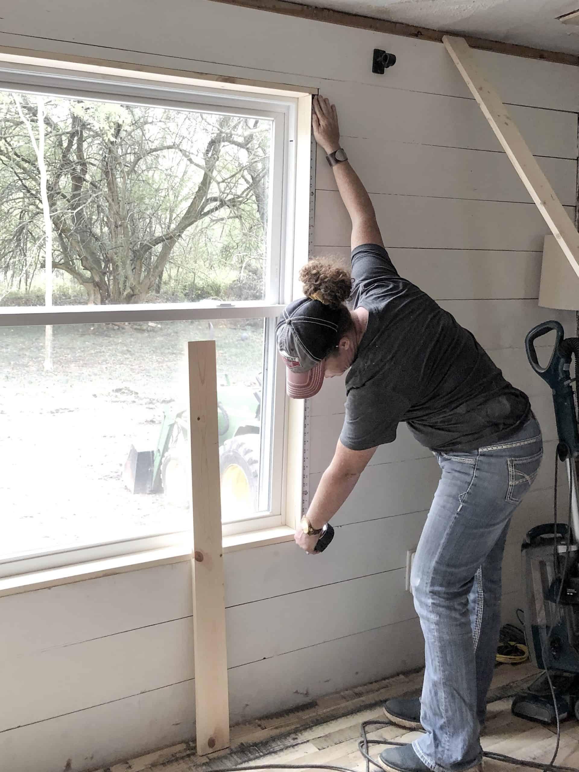 Simple Farmhouse Style Window Trim - The Easy Way