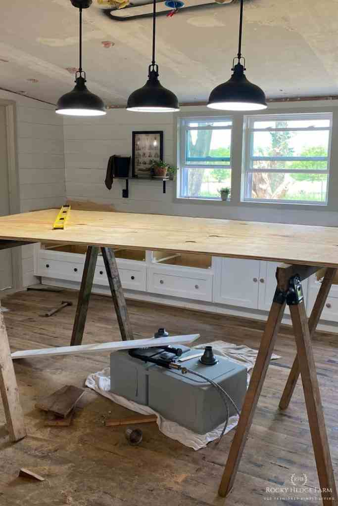 DIY Plywood Countertops