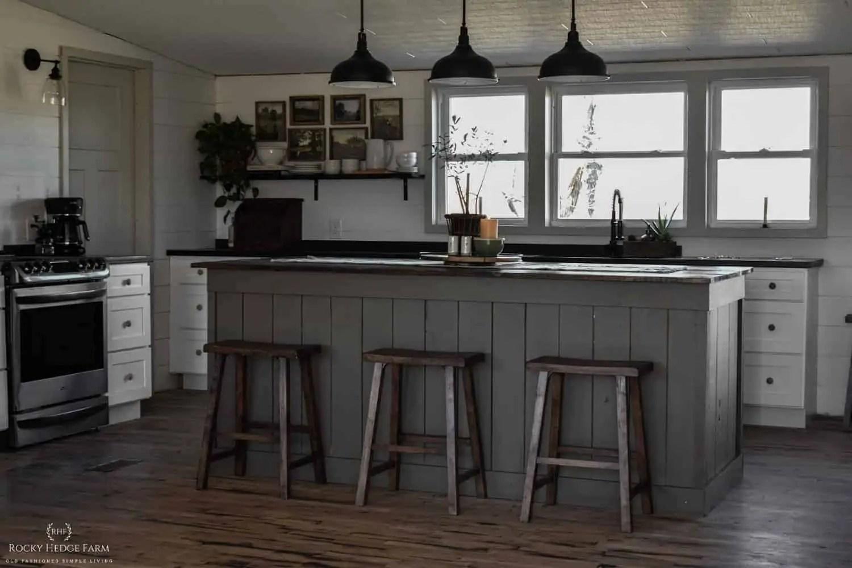 DIY Large Rustic Farmhouse Kitchen Island