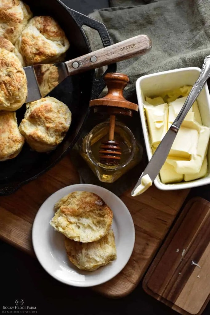 Overnight Sourdough Biscuits