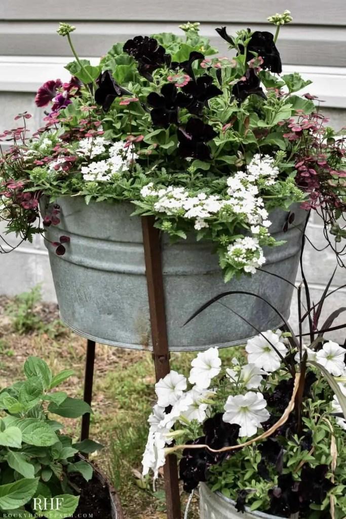 Old Yard Tub Planter