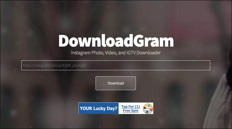 Downloadgram 免費 下載 Instagram 影片、照片、限時動態 1