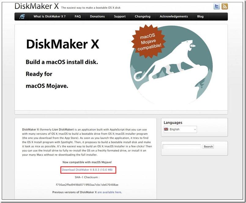 製作 macOS USB 開機碟、安裝碟 ,disk
