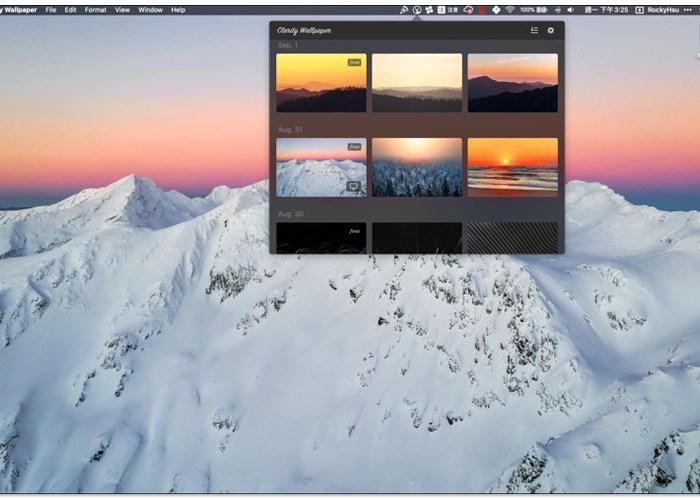 Mac 免費桌布 Clarity Wallpaper 每日一張免費高品質圖片,並提供一鍵設置 10