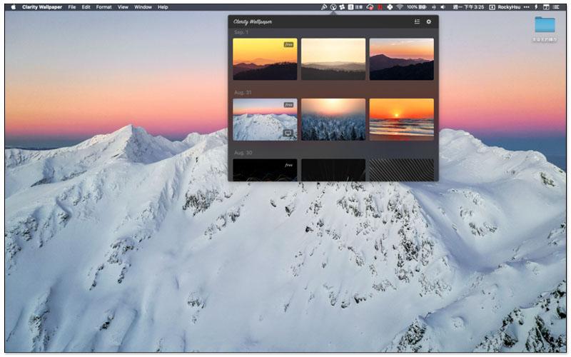 Mac 免費桌布 Clarity Wallpaper 每日一張免費高品質圖片,並提供一鍵設置 7