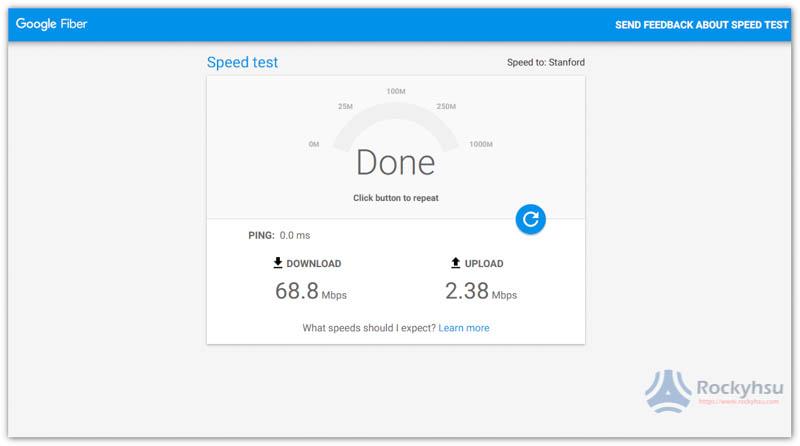 Google Fiber Speedtest