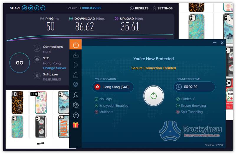 Ivacy 香港伺服器速度實測