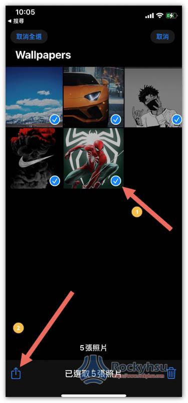 iPhone 相片選取